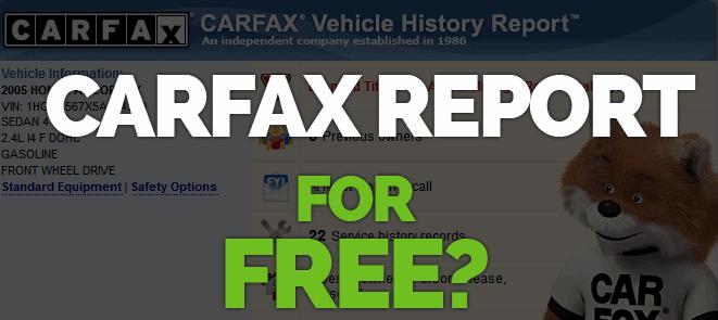 free carfax