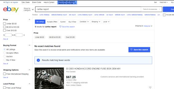 ebay carfax deal